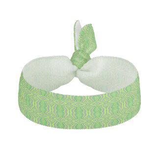 Lime Green 60 s Retro Fractal Pattern Hair Ties