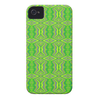Lime Green 60's Retro Fractal Pattern iPhone 4 Case-Mate Cases