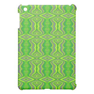 Lime Green 60's Retro Fractal Pern Cover For The iPad Mini