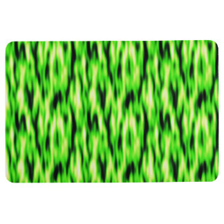 Lime Green Abstract Pattern Floor Mat