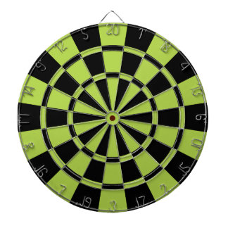 Lime Green And Black Dartboard