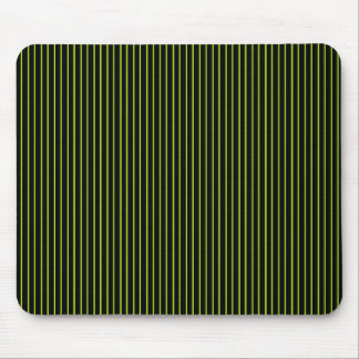 Lime Green and Black Pinstripe Mousepad