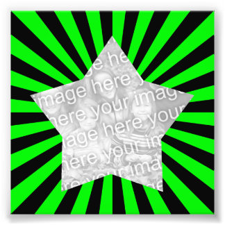 Lime Green and Black Starburst Frame Photo