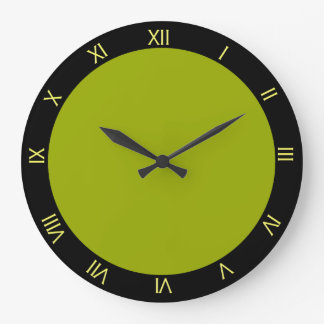 Lime Green and Black Starburst Kitchen Wall Clock