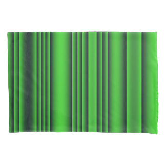 Lime Green and Black Stripes Pillowcase