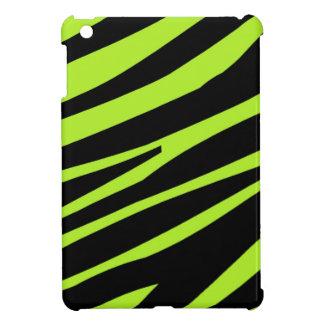 Lime Green And Black Zebra Print iPad Mini Case