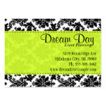 Lime Green and Damask Pack Of Chubby Business Cards