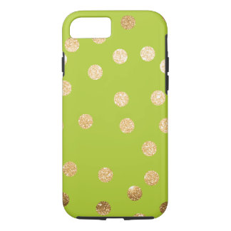 Lime Green and Gold City Dots iPhone 8/7 Case