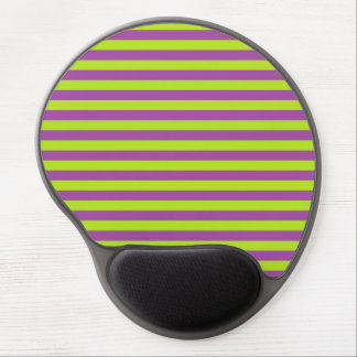 Lime Green and Purple Stripes Gel Mouse Pad