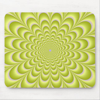 Lime Green and Violet Rosette Mouse Mat