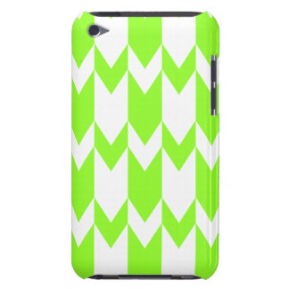 Lime Green and White Chevron Pern. Barely There iPod Cover
