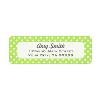 Lime Green and White Polka Dots