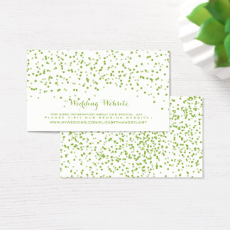 Lime Green and White Wedding Confetti Pattern