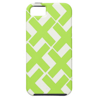 Lime Green and White Xs iPhone 5 Cover
