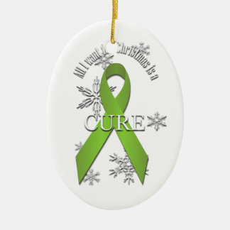 Lime Green Awareness Christmas Cure Ornament