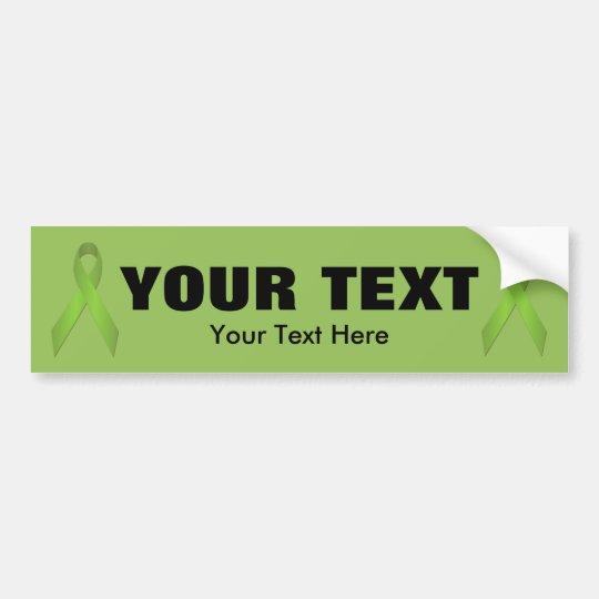 Lime Green Awareness Ribbon Bumper Sticker
