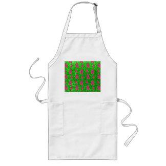 Lime green ballet slippers glitter pattern long apron