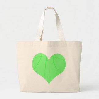 Lime Green Basketball Large Tote Bag