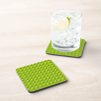 Lime Green Beverage Coasters