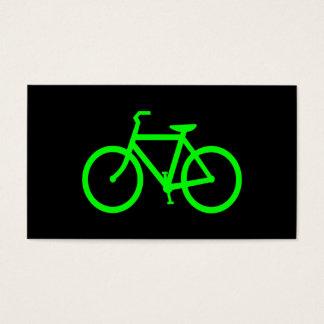 Lime Green Bike Business Card