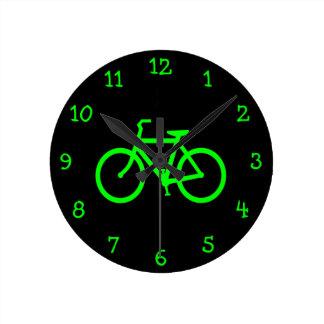 Lime Green Bike Clocks
