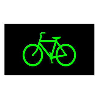 Lime Green Bike Pack Of Standard Business Cards