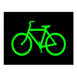 Lime Green Bike Postcard