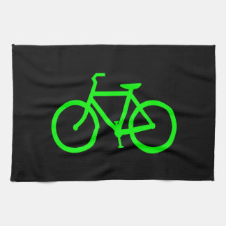 Lime Green Bike Tea Towel