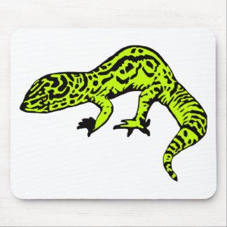 Lime Green & Black Gecko Mousepads