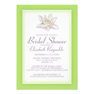 Lime Green Bridal Shower Invitations Personalized Invitation