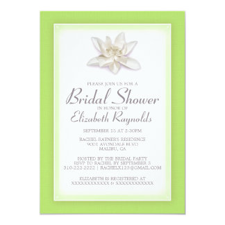 Lime Green Bridal Shower Invitations