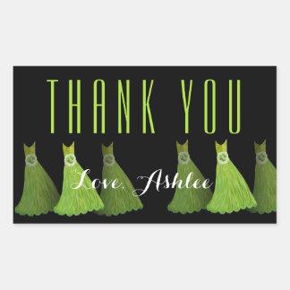 Lime Green Bridesmaids Thank You Bridal Shower V04 Sticker