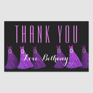 Lime Green Bridesmaids Thank You Bridal Shower V05 Rectangle Stickers