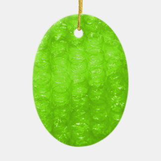 Lime Green Bubble Wrap Effect Ceramic Oval Decoration