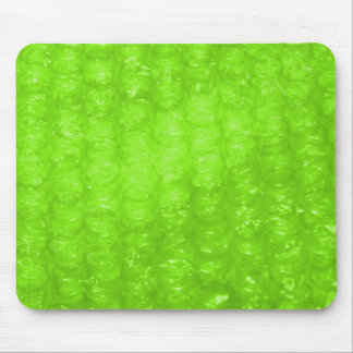 Lime Green Bubble Wrap Effect Mouse Pad