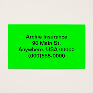 Lime Green Business Cards