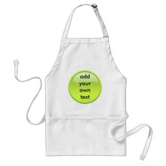 lime green button aprons
