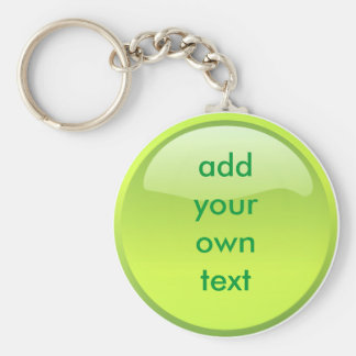 lime green button key chains