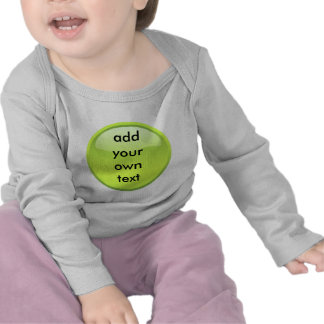 lime green button t-shirt