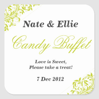 Lime green candy buffet Sticker