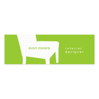 Lime Green Chair Skinny Business Card