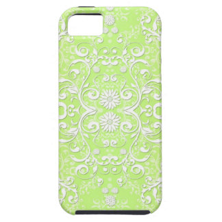 Lime Green Chartreuse Floral Damask iPhone 5 Cover