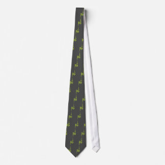 Lime Green Checkered Golf Flag Tie