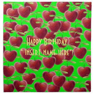 Lime Green Cherry Splash Napkin
