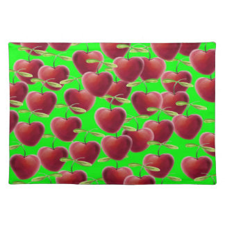 Lime Green Cherry Splash Placemat