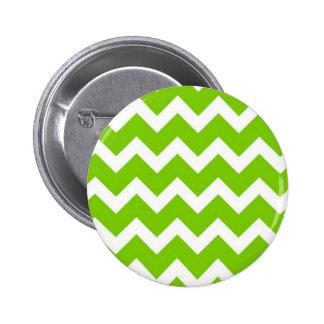 Lime Green Chevron 6 Cm Round Badge