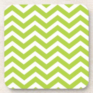 Lime Green Chevron Coasters