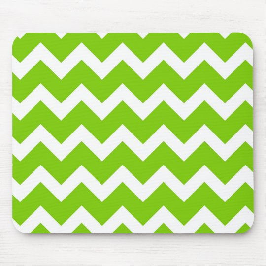 Lime Green Chevron Mouse Mat