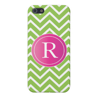 Lime Green Chevrons Case For The iPhone 5