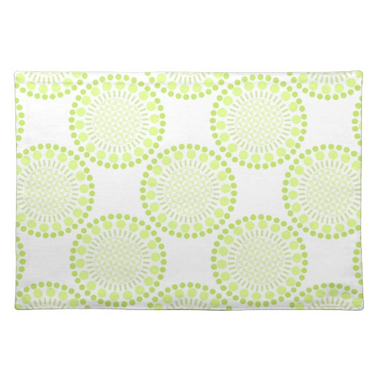 Lime Green Circles Placemat